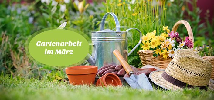 Gartenarbeit März