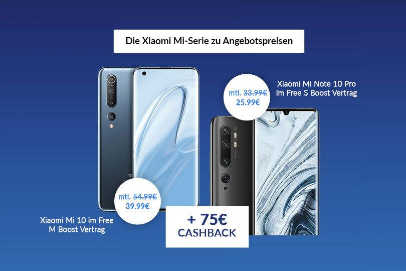 Die neue Xiaomi Mi-Serie zu Angebotspreisen mit 75€ Cashback